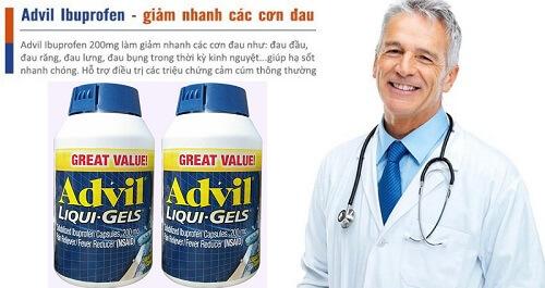 Thuốc giảm đau Advil Liqui Gels 200mg hộp 200 viên của Mỹ
