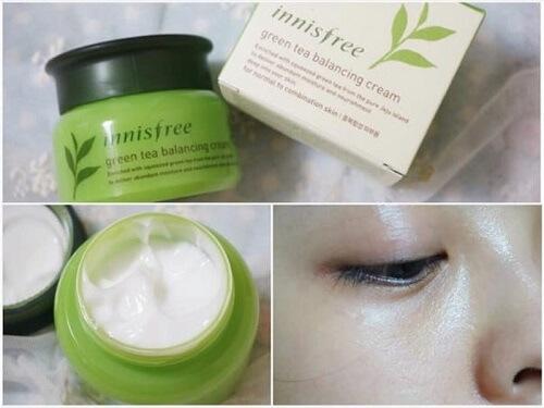 Sử dụng kem dưỡng da innisfree green tea balancing cream đơn giản, hiệu quả