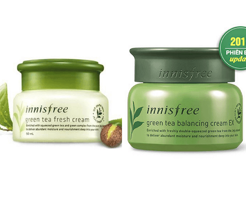 Kem dưỡng da Innisfree Green Tea Balancing Cream - phiên bản nâng cấp từ dòng innisfree green tea fresh cream (da dầu)