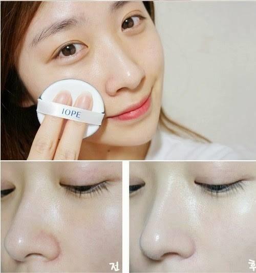 Làn da mịn màng một cách hoàn hảo sau khi sử dụng Phấn nén IOPE - Perfect Skin Twin Pact