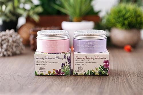 Set bộ kem dưỡng da lariena recovery whitening moisturiser