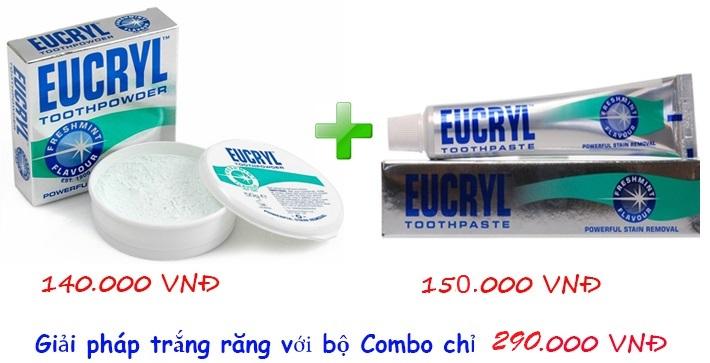 Sử dụng bột tẩy trắng răng Eucryl Toothpowder