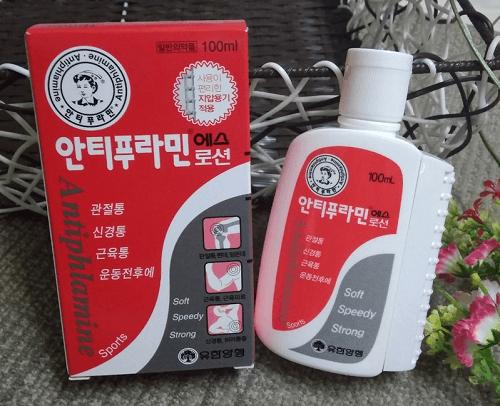 Dầu nóng Hàn Quốc Antiphlamine tiện lợi, dễ dùng khi kết hợp cùng thanh lăn bên hộp
