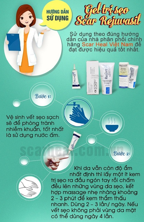 Sử dụng scar rejuvasil trị sẹo lồi đơn giản
