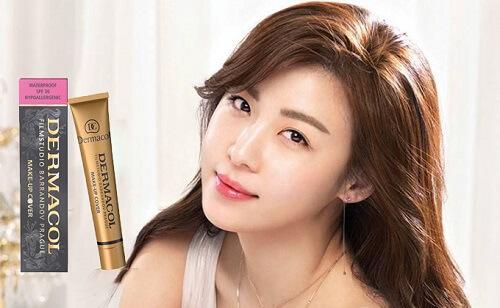 Kem Dermacol Make Up Cover sở hữu thành phần chống nắng nhẹ giúp làn da được bảo vệ toàn diện trước ánh nắng