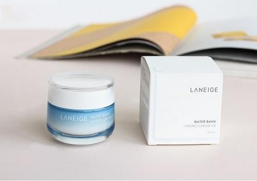 Kem dưỡng ẩm Laneige Water Bank Moisture Cream Ex  - cho làn da ẩm mịn, tươi tắn ngay tức thì