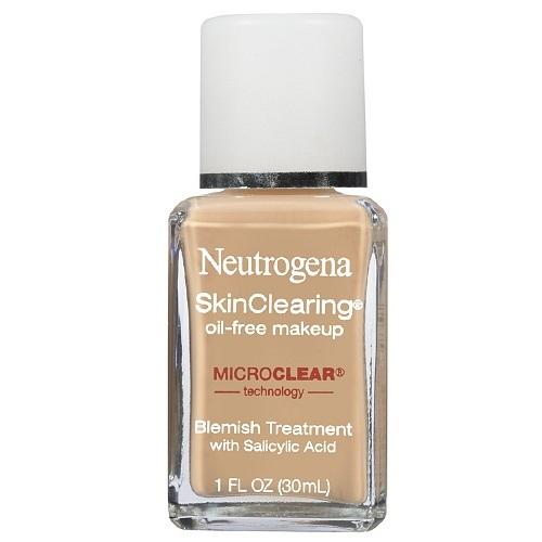 Kem nền NEUTROGENA SkinClearing Oil giúp bạn ngăn ngừa, trị mụn mang đến lớp trang điểm hoàn hảo