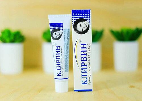 Kem trị sẹo Klirvin sở hữu thiết kế đơn giản với tông màu dịu nhẹ, bắt mắt