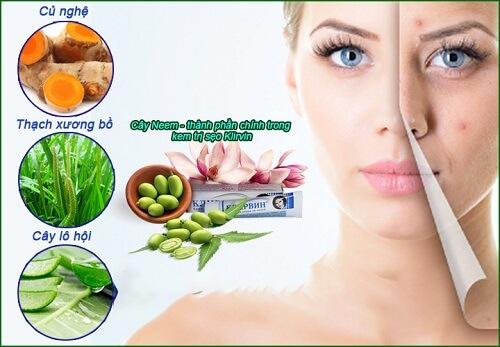 Kem trị sẹo Klirvin được chiết xuất hoàn toàn từ 100% thành phần thảo dược tự nhiên