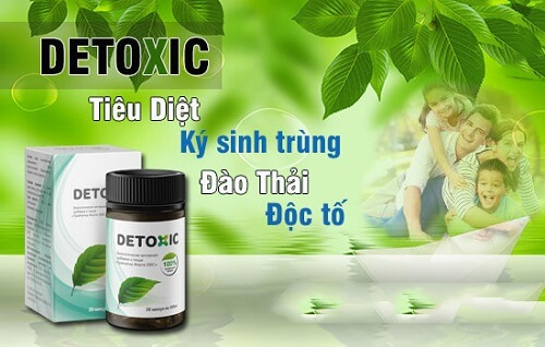 Detoxic - diệt ký sinh trùng Nga loại bỏ mọi vi khuẩn, ký sinh gây hôi miệng bên trong cơ thể