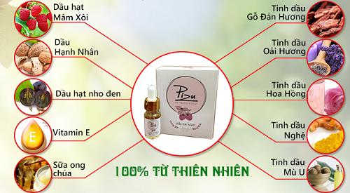 Serum di nám Pizu với thành phần từ 100% thiên nhiên