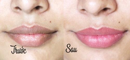 Môi hồng xinh rõ rệt chỉ sau 3 tuần với Son dưỡng môi Crustal Pink Lip.