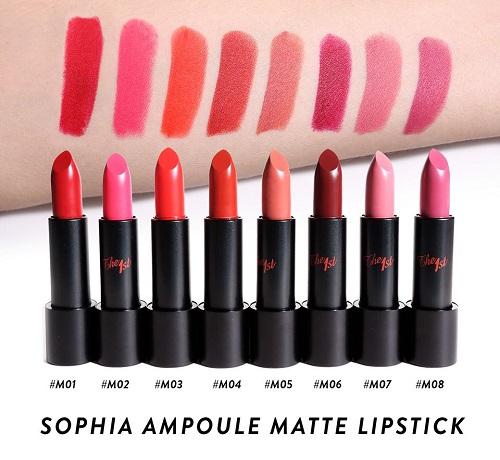 Son lì Ampoule Matte Lipstick The 1st giữ màu rất lâu, siêu mịn, không khô và lên màu cực chuẩn