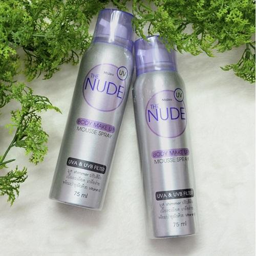 Tất phun chân Nude Body Make Up Mousse Spray