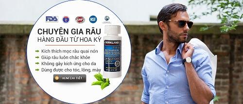 Thuốc mọc râu Minoxidil 5 Kirkland chứa thành phần tự nhiên đem lại hiệu quả nhanh và an toàn