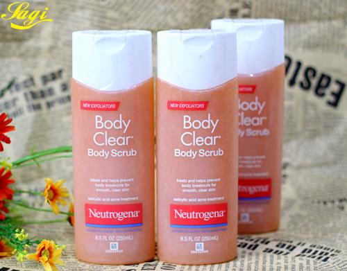 Sữa Tắm Trị Mụn Body Clear Body Wash Neutrogena mang đến cách trị mụn lưng cho bạn